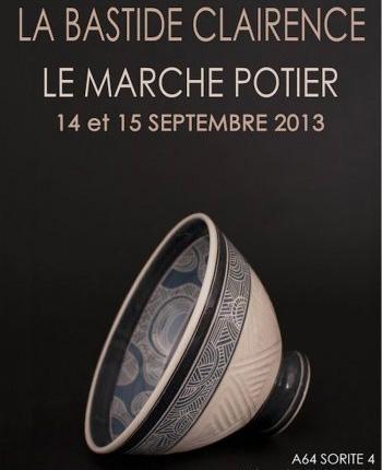 Affiche marché potier La Bastide Clairence 2013, bol L'Athanor