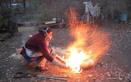 Enfumage d'une pièce - Cuisson raku